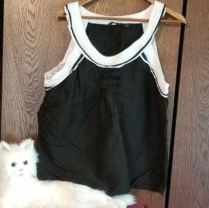 Sherry Taylor black/white tank